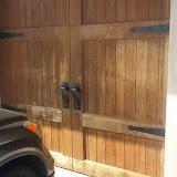 Garage Door Before Prep with heavy sun damage