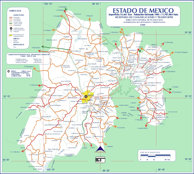 Mapa del estado de mexico  Notio