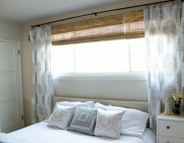 Bedroom Final Reveal Bamboo Blinds