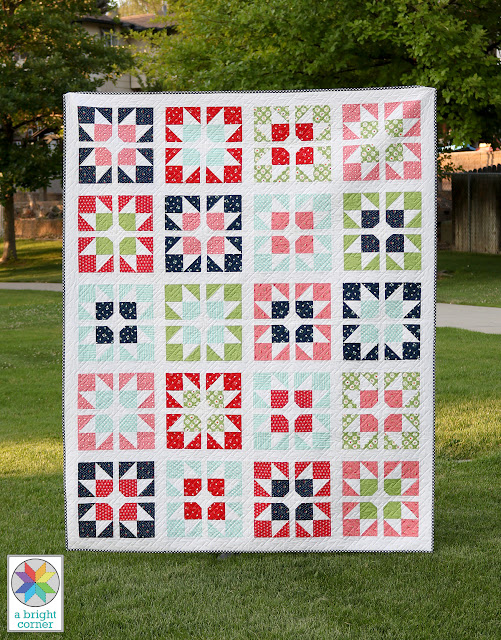 Split Stars quilt pattern by Andy of A Bright Corner