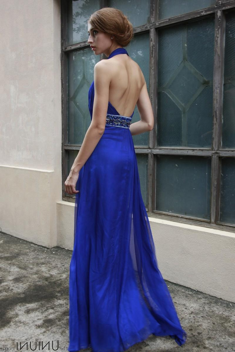 Coniefox Blue Halter Backless
