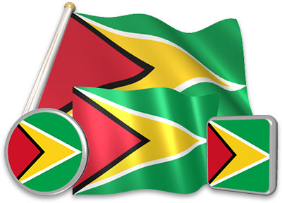 Guyanese flag animated gif collection