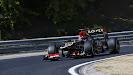 Kimi Raikkonen racing his Lotus E21