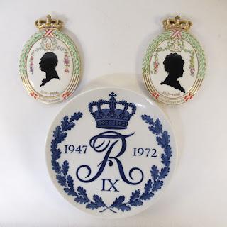 Royal Copenhagen Commemorative Porcelain Trio