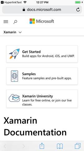 Dave's Tech Blog: Creating a Hyperlink in Xamarin Forms