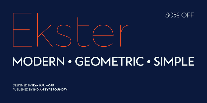 Download Ekster Font Family From Indian Type Foundry