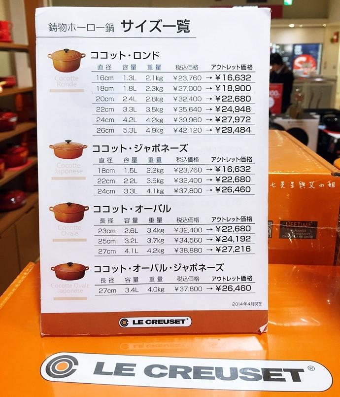34 【東京Outlet購物趣】海濱幕張三井Outlet - LE CREUSET 鑄鐵鍋買到翻!提到手抽筋也甘願!