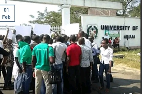 UNIAbuja students protest, demand extension of exams date, reopening of portal for registration