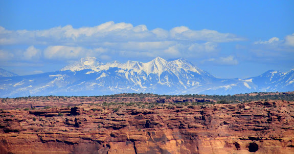 The La Sal Mountains over Millard Canyon