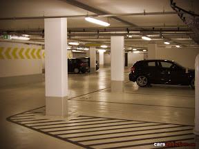Cleanest underground car park of Porsche Stuttgart.