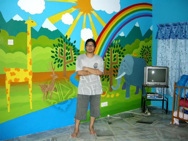 Aldhia design march 2011 for Mural untuk kanak kanak