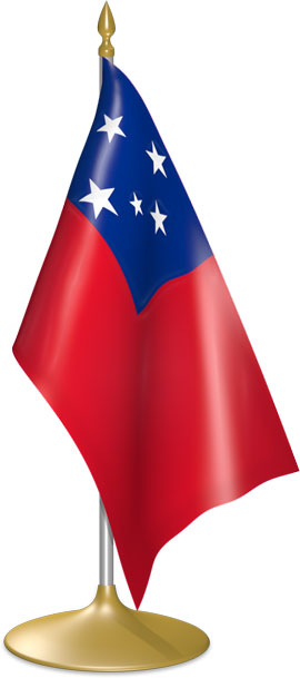 Samoan table flags - desk flags