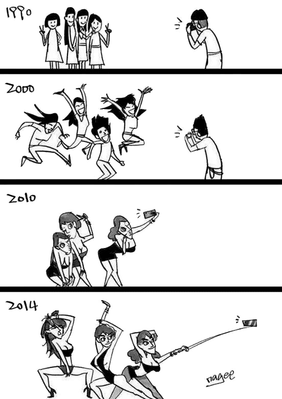 The evolution of selfies