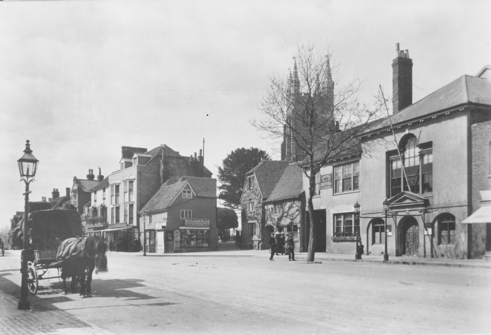 Tenterden Archive photos Woolpack and Town Hall, Tenterden High Street