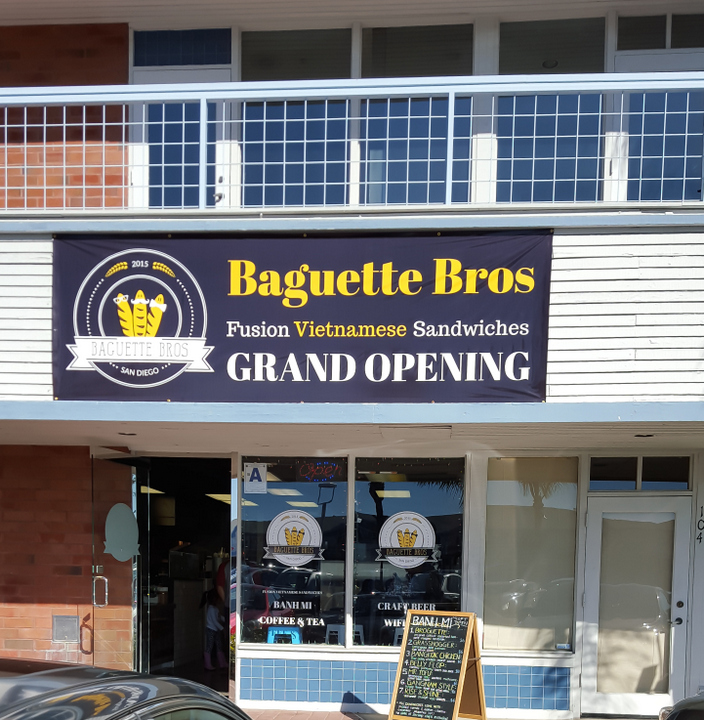 photo of the outside of Baguette Bros
