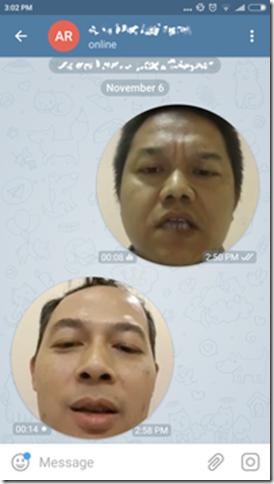 tampilan pesan video pada aplikasi telegram messenger