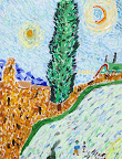 Tribute to van Gogh by Gianna