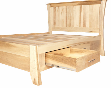 Kyoto Platform Bed with Storage, in Natural Maple