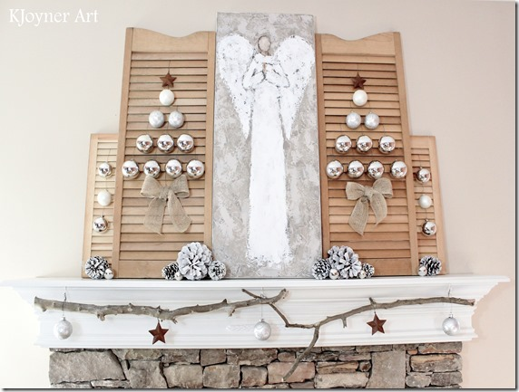 Creative Ambitions KJoyner Art Christmas Mantel