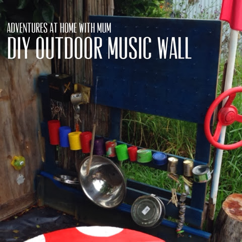 Adventures At Home With Mum Outdoor Music Wall