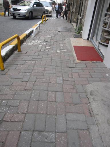 Sidewalks in Istanbul.