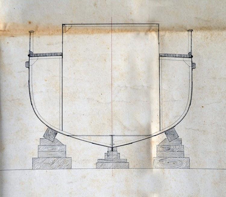 Casco por la cuaderna maestra del vapor PADRE CAPITAN. Museo del Dique.jpg