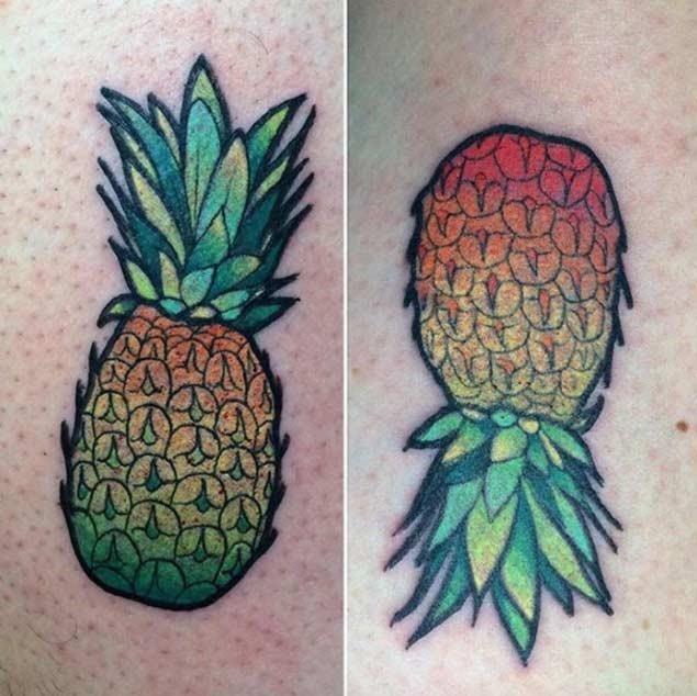 Estes abacaxi algumas tatuagens