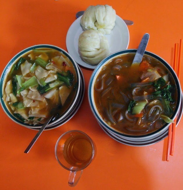 Tibetan Food at a restaurant near Boudanath Stupa, Kathmandu