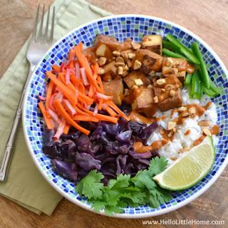 Bahn Mi Bowl with Vietnamese Peanut Sauce.
