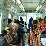 on route to Odaibe by sky train in Odaiba, Tokyo, Japan