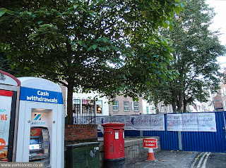 15 September 2013. Doomed mulberry tree looking good. Fencing around main part of square.