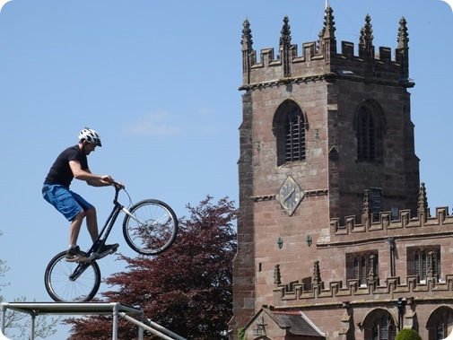 Extreme Mountain Bike Show and St Michael & All Angels  Parish Church