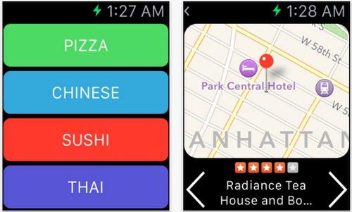 最寄りの飲食店をiPhoneやApple Watchで検索
