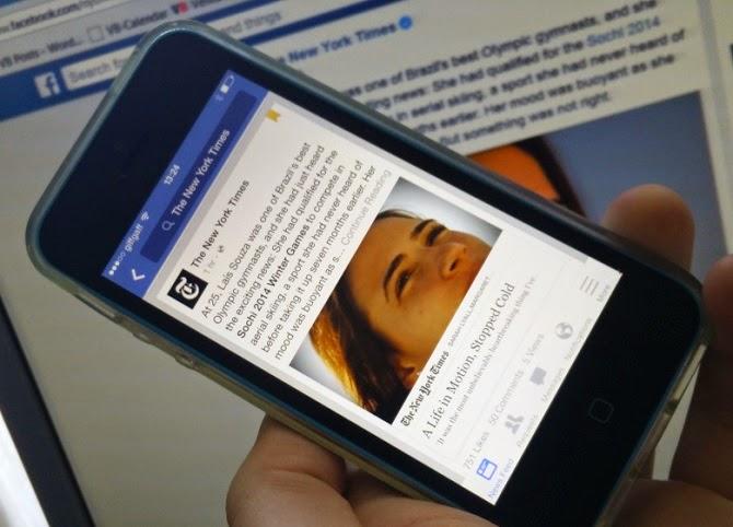 Facebook giới thiệu dịch vụ đọc báo tức thời