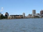 Rochester skyline from the river