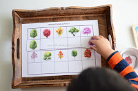 FREE TREE Matching Cards Activity