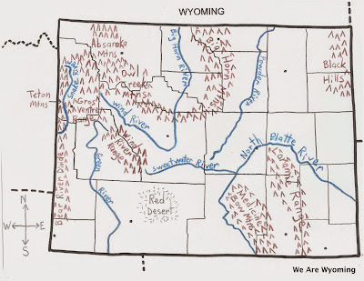Rivers In Wyoming Map Wyoming Physical Maps   Lesson Plan   We Are Wyoming