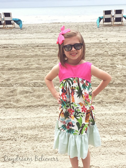 Luau Birthday Dress for Girls by Daydream Believers Designs