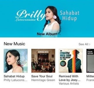 prilly launching album sahabat hidup kfc