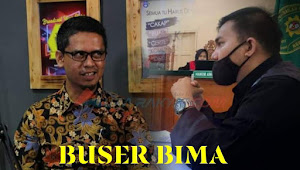 Calon Bupati Iskandar bersitegang dengan Advokat Kelvin, di Bantaran RM Sederhana.