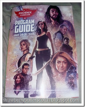 Phoenix Comicon 2015 program guide cover