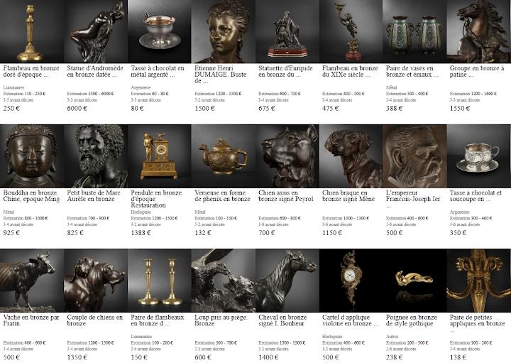 Les objets en bronze du moment sur expertissim.com