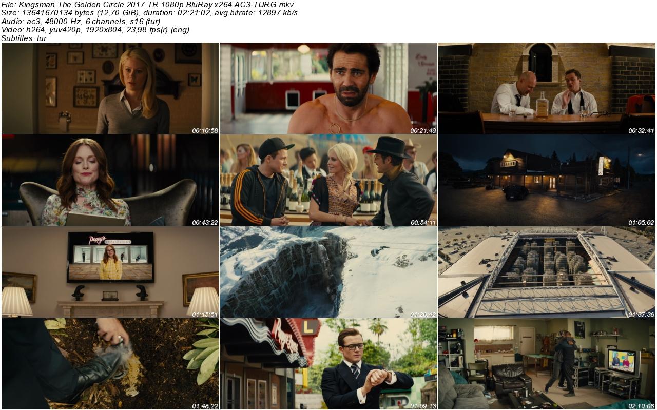 Kingsman Altın Çember 2017 - 1080p 720p 480p - Türkçe Dublaj Tek Link indir