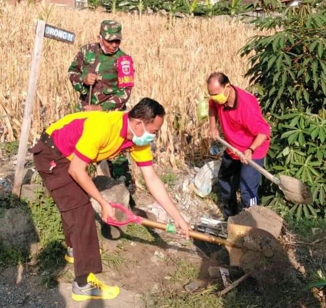 Budayakan Gotong Royong, Tiga Pilar Kelurahan Lemba Gelar Ini