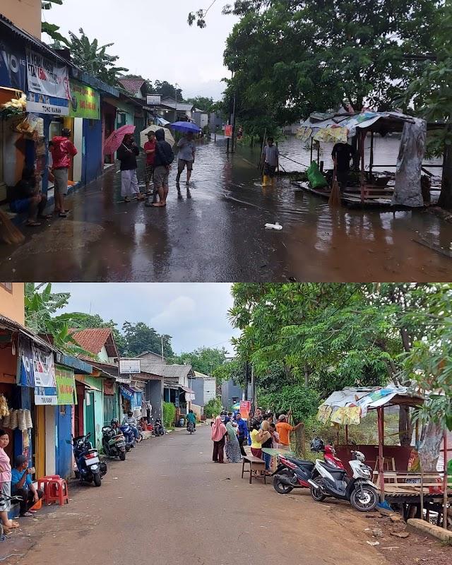 Banjir Griya Cimanggu Surut, Petugas Bantu Bersihkan Rumah Warga Terdampak