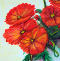 Red poppies in Vase watercoulor