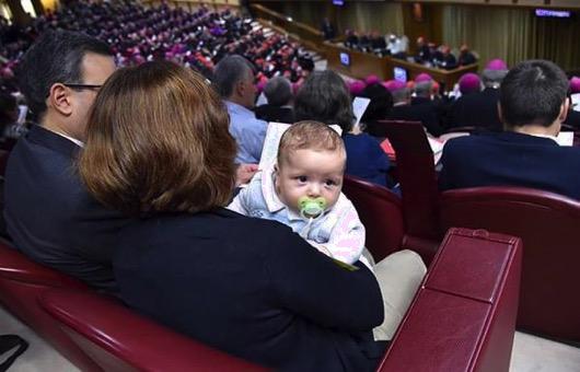Baby at synod