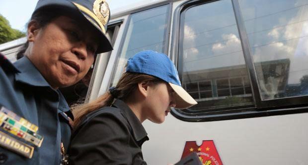 Deniece Cornejo surrenders herself at the PNP