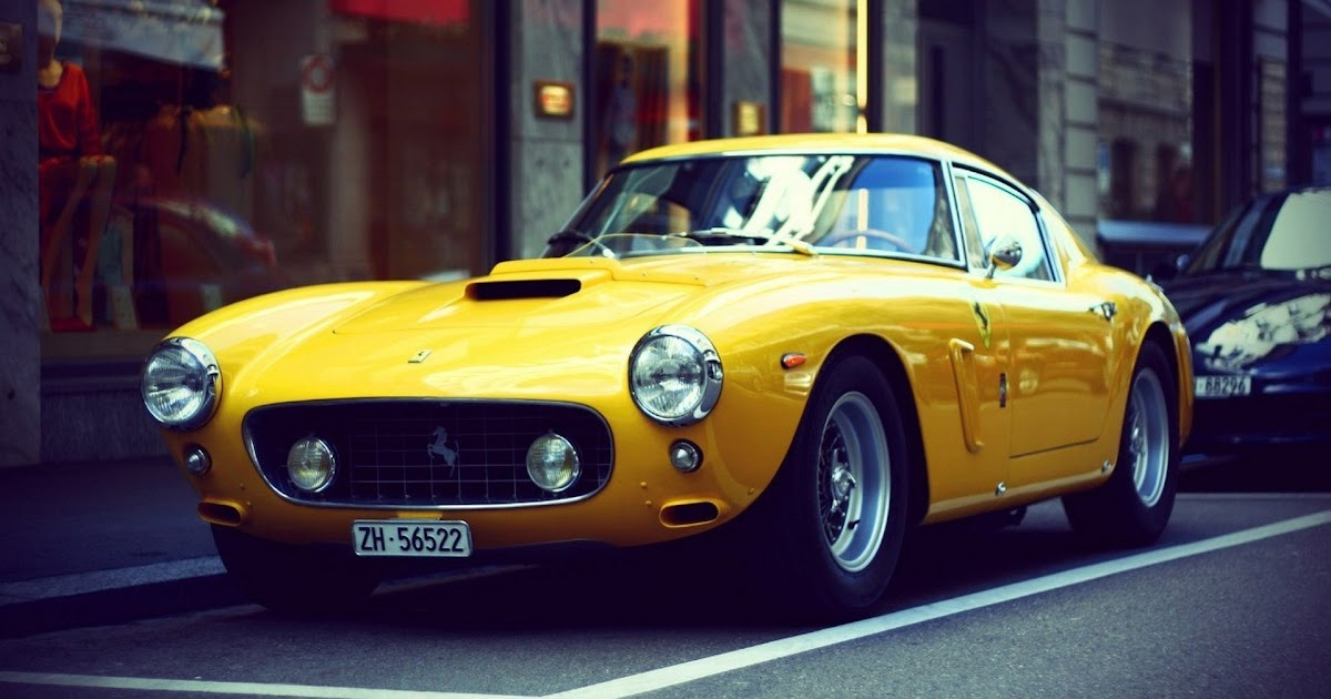 Yellow Ferrari Old Cars Wallpapers Hd Wallpapers