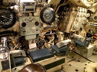 """Госпорт. Музей Подводных Лодок. Подлодка """"Alliance"""" 1947 года. Внутри."""